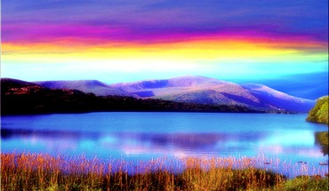 Rainbow colored sky HD wallpaper