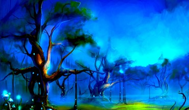 Mistique forest HD wallpaper