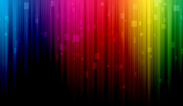 Abstract multicolor spectrum rainbows digital art lines colors HD wallpaper