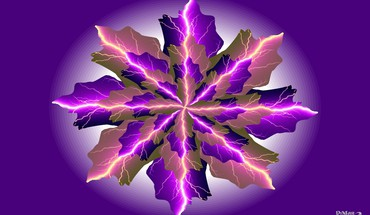 Fractal lightning HD wallpaper
