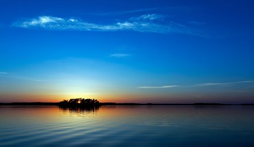 Sunset blue nature HD wallpaper