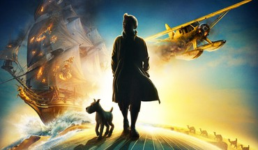 The adventures of tintin aircraft movies ships snow HD wallpaper