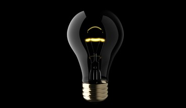 Cgi black background light bulbs minimalistic objects HD wallpaper