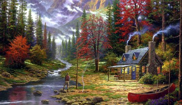 Fishermans cottage HD wallpaper