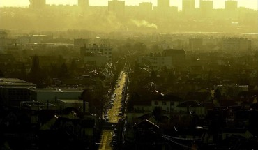 Sunset cityscapes streets fog urban buildings james lapett HD wallpaper
