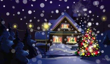 All lit up for the holiday HD wallpaper