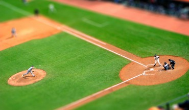 Beisbolas lauko sporto Tilt-shift  HD wallpaper