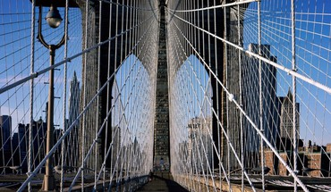 Amazing brooklyn bridge walkway HD wallpaper