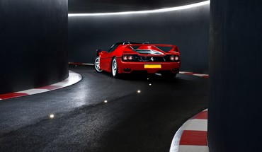 Ferrari tunnels tron vehicles supercars f50 italian HD wallpaper
