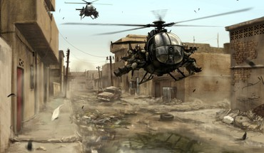 Guns hélicoptères militaires Chopper Black Hawk Down  HD wallpaper