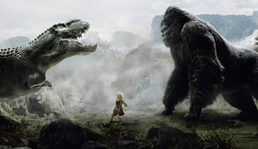 Dinosaurs king kong artwork gorila HD wallpaper