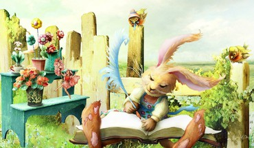 Bunny fairy tale HD wallpaper