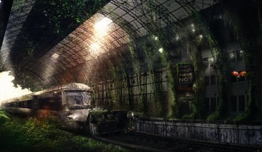 Ruined subway HD wallpaper
