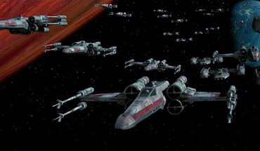 Star wars kosmosas filmai x-sparno y sparnas  HD wallpaper
