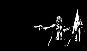 Guns suit pulp fiction nemesis pyramid head HD wallpaper
