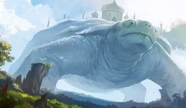 Fantasy giant turtle HD wallpaper