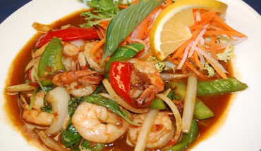 Thai spicy basil with shrimp HD wallpaper