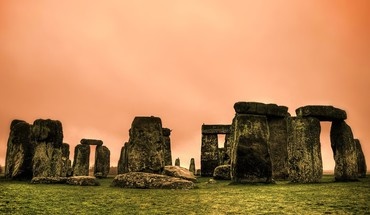 Sunset landscapes stonehenge HD wallpaper