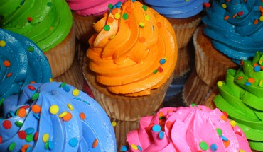 Neon cupcakes HD wallpaper