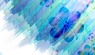 Blue flower abstract HD wallpaper