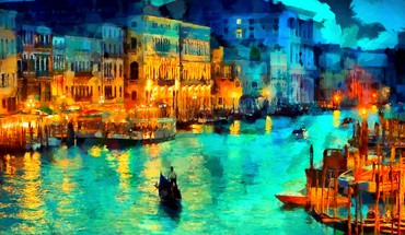 Night in venezia HD wallpaper