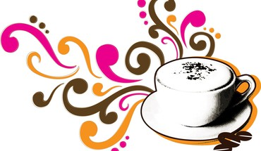 Swirls of coffee HD wallpaper