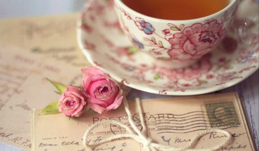 Romantic coffee HD wallpaper