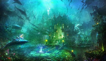 Underwater city HD wallpaper