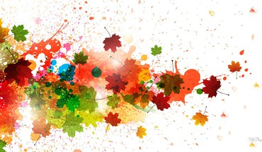 Autumn splatters  HD wallpaper