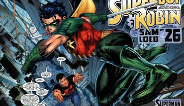 DC Comics Superhelden Robin superboy  HD wallpaper