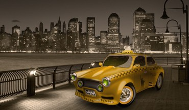 New york city taxi cab HD wallpaper