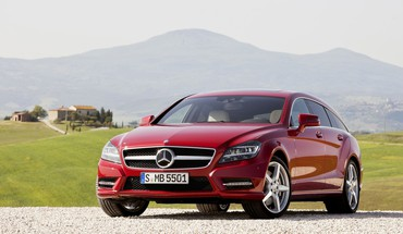 Cars shooting red mercedes-benz cls-class german cls HD wallpaper