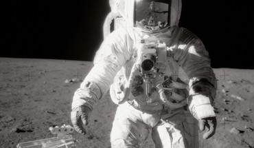 Outer space moon astronauts HD wallpaper