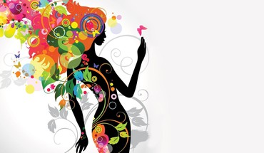 Floral woman HD wallpaper