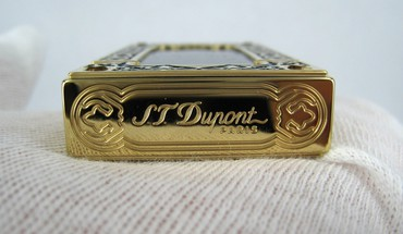 Paris gold lighters st. dupont HD wallpaper