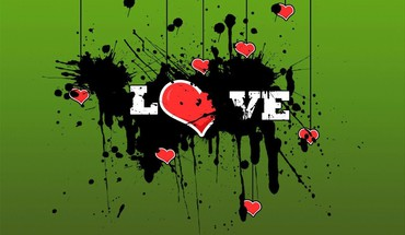 Love world vector green background HD wallpaper
