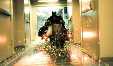 Bale the dark knight shattered glass batpod HD wallpaper