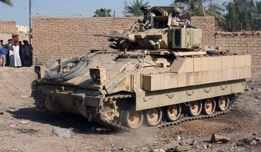 Fighting nato baghdad armoured personnel carrier fallujah HD wallpaper
