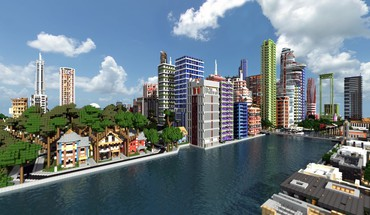 Minecraft modern cities mineraft house HD wallpaper
