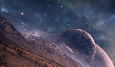Outer space stars planets digital art HD wallpaper