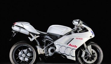 Audi 848 black background superbike white HD wallpaper