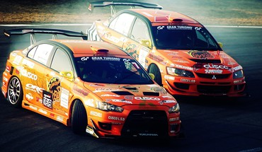 Mitsubishi lancer evolution cars drifting HD wallpaper