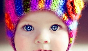 Multicolor baby babies hats colors woolen HD wallpaper