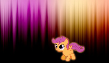 My little pony scootaloo glow HD wallpaper