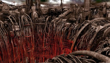 Art science fiction artwork post apocalyptic cables HD wallpaper