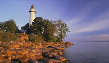 Pointe aux barques lighthouse lake huron HD wallpaper