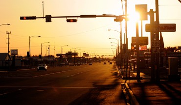 Texas usa evening streets sunset HD wallpaper