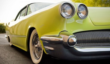 Classic cars green old HD wallpaper