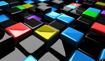 Cubes graphic art HD wallpaper