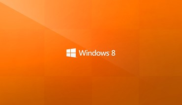 "Orange operacinės sistemos Windows 8 ""Microsoft"" logotipas  HD wallpaper"